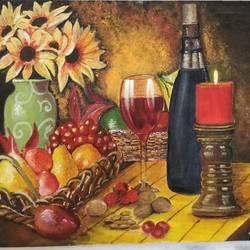 fruits and vine, 20 x 16 inch, vinaya mallya,20x16inch,canvas,paintings,still life paintings,acrylic color,GAL02649938082