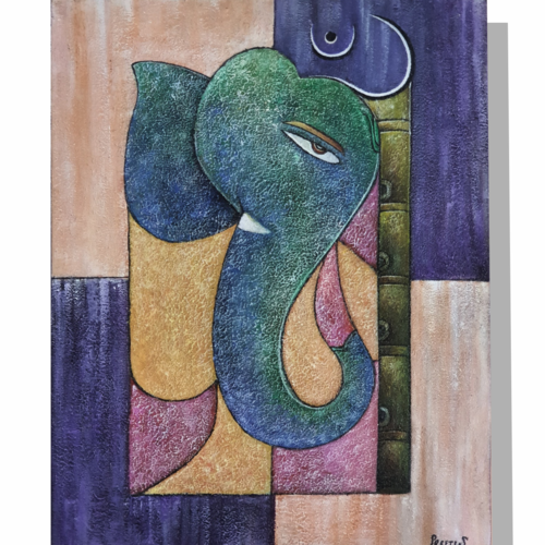 reflection, 16 x 20 inch, preeti srivastava,16x20inch,canvas,paintings,abstract paintings,ganesha paintings | lord ganesh paintings,acrylic color,GAL02579238097