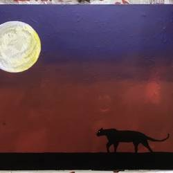 black panther , 50 x 40 inch, karan shah,50x40inch,canvas,paintings,wildlife paintings,landscape paintings,nature paintings | scenery paintings,animal paintings,paintings for dining room,paintings for living room,paintings for bedroom,paintings for dining room,paintings for living room,paintings for bedroom,acrylic color,GAL02652838128
