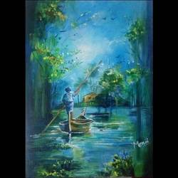 scenic beauty, 12 x 16 inch, mansi arora,12x16inch,canvas board,paintings,nature paintings | scenery paintings,paintings for dining room,paintings for living room,paintings for office,paintings for hotel,acrylic color,GAL02092838141