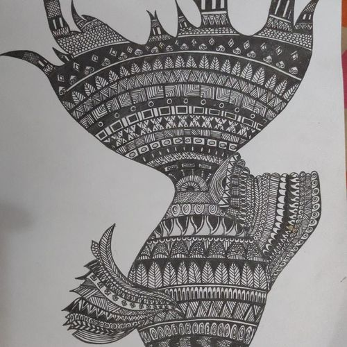 mandala-fish, 29 x 21 inch, anjitha sanjay,29x21inch,paper,drawings,paintings for living room,paintings for bedroom,paintings for kids room,paintings for hotel,modern drawings,paintings for living room,paintings for bedroom,paintings for kids room,paintings for hotel,ball point pen,GAL02657438185