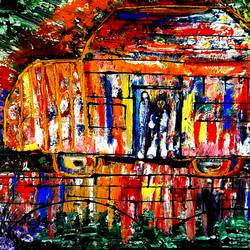 caravan on the move, 36 x 24 inch, musolini rajagopal,36x24inch,canvas,paintings,abstract paintings,acrylic color,GAL01311938198