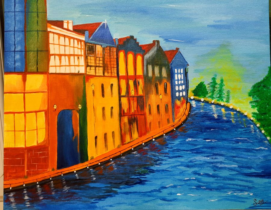 venice , 20 x 16 inch, subhi agarwal ,20x16inch,canvas,paintings,landscape paintings,nature paintings | scenery paintings,paintings for living room,paintings for office,paintings for hotel,paintings for living room,paintings for office,paintings for hotel,acrylic color,GAL02657938204