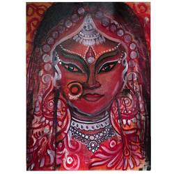 our bride , 12 x 10 inch, vindhya acharya,12x10inch,canvas,paintings,abstract paintings,figurative paintings,folk art paintings,modern art paintings,religious paintings,portrait paintings,abstract expressionism paintings,paintings for living room,paintings for hotel,acrylic color,GAL02394638215