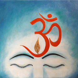 om namah shivaayaha, 12 x 10 inch, vasantha dasarath,12x10inch,canvas,paintings,religious paintings,lord shiva paintings,paintings for dining room,paintings for living room,oil color,GAL02659238219