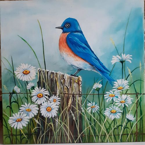 bird painting , 12 x 12 inch, apoorva shirsat,12x12inch,canvas board,paintings,wildlife paintings,flower paintings,realistic paintings,paintings for dining room,paintings for living room,paintings for bedroom,paintings for office,paintings for hotel,acrylic color,GAL02646538238