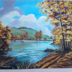 landscape painting , 19 x 14 inch, apoorva shirsat,19x14inch,thick paper,paintings,landscape paintings,paintings for dining room,paintings for living room,paintings for bedroom,paintings for office,paintings for hotel,acrylic color,GAL02646538242