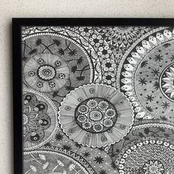 mandala art frame, 12 x 16 inch, samiksha laturkar,12x16inch,drawing paper,paintings for dining room,paintings for living room,paintings for bedroom,paintings for office,fine art drawings,paintings for dining room,paintings for living room,paintings for bedroom,paintings for office,pen color,GAL02660938256
