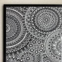 mandala art frame, 23 x 16 inch, samiksha laturkar,23x16inch,drawing paper,drawings,fine art drawings,paintings for dining room,paintings for living room,paintings for bedroom,pen color,GAL02660938258