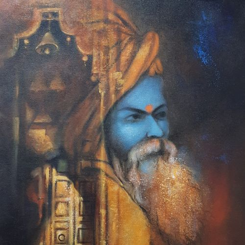 sadhu, 18 x 24 inch, swastik jawalekar,18x24inch,canvas,paintings,figurative paintings,religious paintings,acrylic color,GAL02600138275