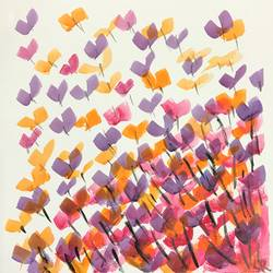colourful butterflies, 12 x 12 inch, susmita reddy,abstract paintings,paintings for bedroom,thick paper,acrylic color,12x12inch,GAL014033828