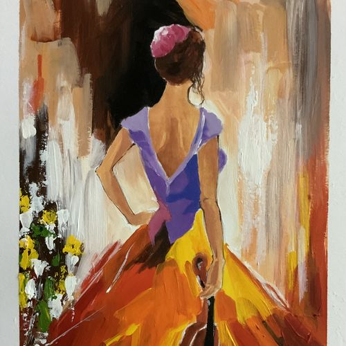 music, 8 x 12 inch, neha harish,8x12inch,thick paper,figurative paintings,conceptual paintings,love paintings,paintings for dining room,paintings for living room,paintings for hotel,paintings for dining room,paintings for living room,paintings for hotel,acrylic color,GAL02666738282