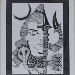 om namah shivaay, 15 x 20 inch, tina sharma,15x20inch,drawing paper,drawings,art deco drawings,expressionism drawings,fine art drawings,modern drawings,paintings for dining room,paintings for living room,paintings for office,paintings for hotel,paintings for school,pen color,pencil color,paper,GAL02657038298