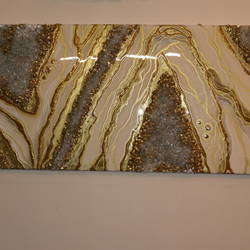 geode painting , 24 x 48 inch, madhulika sureka,24x48inch,wood board,paintings,art deco paintings,paintings for living room,mixed media,GAL01933438301