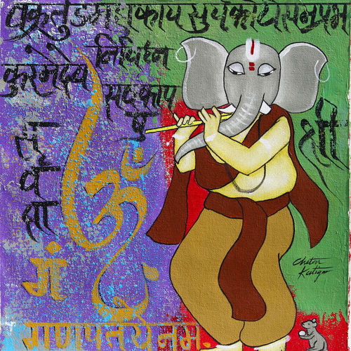 vikat ganesha, 15 x 15 inch, chetan katigar,15x15inch,canvas,paintings,abstract paintings,figurative paintings,flower paintings,foil paintings,cityscape paintings,modern art paintings,multi piece paintings,conceptual paintings,religious paintings,still life paintings,portrait paintings,nature paintings | scenery paintings,tanjore paintings,abstract expressionism paintings,art deco paintings,cubism paintings,photorealism paintings,realism paintings,surrealism paintings,ganesha paintings | lord ganesh paintings,realistic paintings,love paintings,children paintings,paintings for dining room,paintings for living room,paintings for bedroom,paintings for office,paintings for bathroom,paintings for kids room,paintings for hotel,paintings for kitchen,acrylic color,GAL026638307