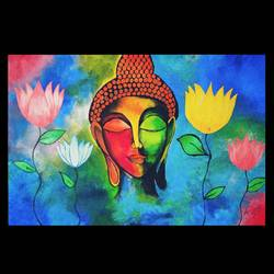 zen, 30 x 20 inch, ridhima saxena,30x20inch,canvas,paintings,buddha paintings,acrylic color,GAL02676238352