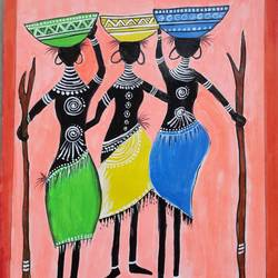 african dance art, 8 x 12 inch, mrs. bharti  rajput,8x12inch,cartridge paper,paintings,abstract paintings,paintings for dining room,paintings for living room,paintings for bedroom,paintings for office,paintings for bathroom,paintings for kids room,paintings for hotel,paintings for kitchen,paintings for school,paintings for hospital,acrylic color,GAL02280438374