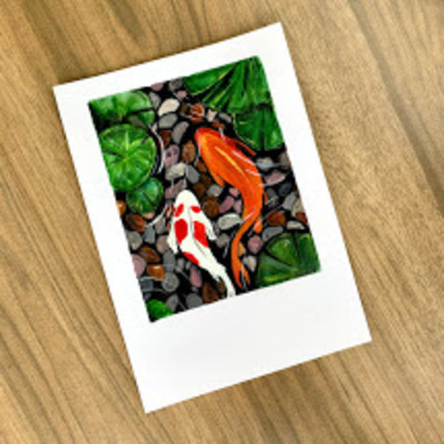 koi fish, 8 x 12 inch, mounika panthala,8x12inch,brustro watercolor paper,paintings,wildlife paintings,landscape paintings,conceptual paintings,still life paintings,nature paintings | scenery paintings,paintings for dining room,paintings for living room,paintings for bedroom,paintings for office,paintings for bathroom,paintings for kids room,paintings for hotel,paintings for kitchen,paintings for school,paintings for hospital,watercolor,GAL02685238381