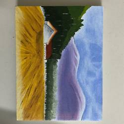 purple mountains , 6 x 8 inch, vinita jain,6x8inch,canvas,paintings,nature paintings | scenery paintings,acrylic color,GAL02662238417