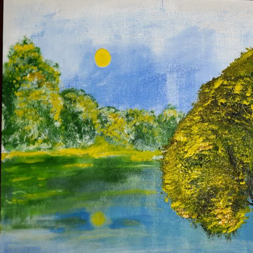 tranquility , 20 x 16 inch, jane fdes,20x16inch,canvas,landscape paintings,nature paintings | scenery paintings,acrylic color,GAL02688238423