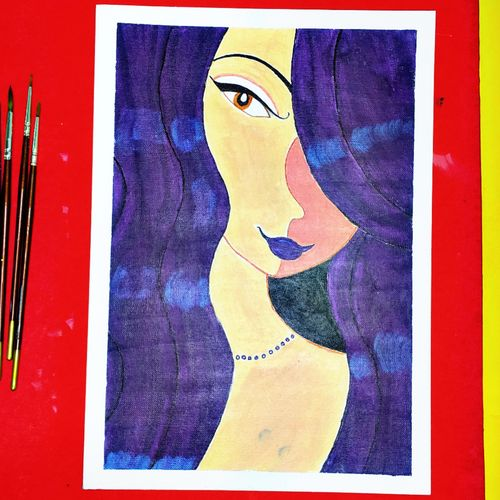 silent queen, acrylic painting , 21 x 30 inch, pruthiraj baisak,21x30inch,canvas,paintings,modern art paintings,still life paintings,portrait paintings,art deco paintings,cubism paintings,impressionist paintings,photorealism paintings,photorealism,acrylic color,paper,GAL02663938424