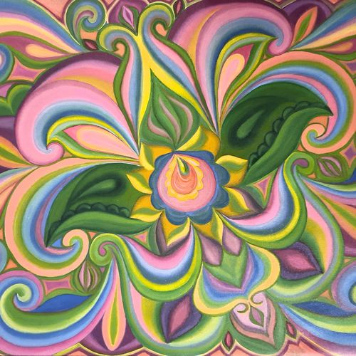 abstraction flower, 18 x 24 inch, irina  nagill ,18x24inch,canvas,paintings,abstract paintings,flower paintings,paintings for dining room,paintings for living room,paintings for bedroom,paintings for office,paintings for kids room,oil color,GAL02689138443
