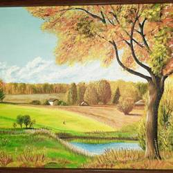 golden season , 9 x 12 inch, irina  nagill ,9x12inch,canvas board,paintings,landscape paintings,nature paintings | scenery paintings,paintings for dining room,paintings for living room,paintings for bedroom,paintings for office,paintings for kids room,acrylic color,GAL02689138448