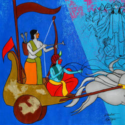krishna the charioteer, 21 x 16 inch, chetan katigar,21x16inch,canvas,paintings,abstract paintings,buddha paintings,wildlife paintings,figurative paintings,flower paintings,folk art paintings,foil paintings,cityscape paintings,landscape paintings,modern art paintings,multi piece paintings,conceptual paintings,religious paintings,still life paintings,portrait paintings,nature paintings | scenery paintings,tanjore paintings,abstract expressionism paintings,art deco paintings,cubism paintings,dada paintings,expressionism paintings,illustration paintings,impressionist paintings,photorealism paintings,pop art paintings,realism paintings,street art,surrealism paintings,ganesha paintings | lord ganesh paintings,animal paintings,radha krishna paintings,contemporary paintings,realistic paintings,love paintings,horse paintings,mother teresa paintings,dog painting,elephant paintings,baby paintings,kids paintings,madhubani paintings | madhubani art,warli paintings,phad painting,gond painting.,paintings for dining room,paintings for living room,paintings for bedroom,paintings for office,paintings for bathroom,paintings for kids room,paintings for hotel,paintings for kitchen,paintings for school,paintings for hospital,acrylic color,GAL026638449