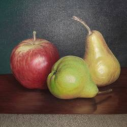 """juicy fruits "", 9 x 12 inch, irina  nagill ,9x12inch,canvas board,paintings,realistic paintings,paintings for dining room,paintings for living room,paintings for kids room,paintings for kitchen,oil color,GAL02689138454"