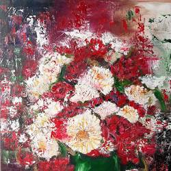 flowers , 24 x 30 inch, minakshi  sharma,24x30inch,canvas,paintings,abstract paintings,flower paintings,paintings for dining room,paintings for living room,paintings for office,paintings for hotel,paintings for hospital,acrylic color,GAL02694938483