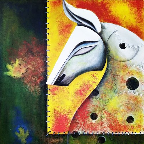motion of life 2, 24 x 30 inch, susmita mandal,24x30inch,canvas,paintings,abstract paintings,paintings for dining room,paintings for living room,paintings for bedroom,paintings for office,paintings for hotel,acrylic color,GAL01940538486