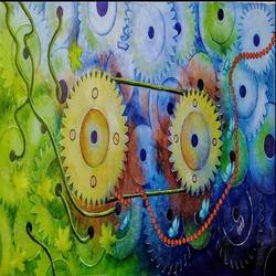 time apparatus, 24 x 48 inch, susmita mandal,24x48inch,canvas,paintings,abstract paintings,paintings for living room,paintings for office,paintings for hotel,paintings for living room,paintings for office,paintings for hotel,acrylic color,GAL01940538488