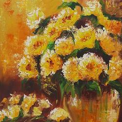 flowers , 18 x 24 inch, minakshi  sharma,18x24inch,canvas,paintings,abstract paintings,flower paintings,oil color,GAL02694938492