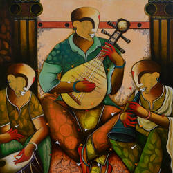 the musical band 15, 48 x 54 inch, anupam  pal,48x54inch,canvas,paintings,abstract paintings,figurative paintings,paintings for dining room,paintings for living room,paintings for bedroom,paintings for office,paintings for bathroom,paintings for kids room,paintings for hotel,paintings for kitchen,paintings for school,paintings for hospital,acrylic color,GAL08238497