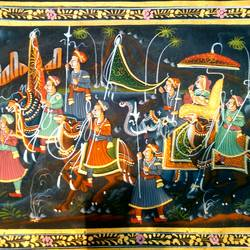 rajasthani, 16 x 22 inch, rakesh gupta,folk art paintings,paintings for living room,silk,natural color,16x22inch,GAL014083850