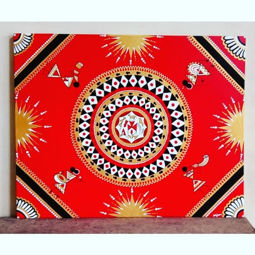 warli art, 30 x 24 inch, anjana powell,30x24inch,canvas,folk art paintings,paintings for living room,paintings for bedroom,paintings for hotel,paintings for living room,paintings for bedroom,paintings for hotel,acrylic color,GAL02138838502