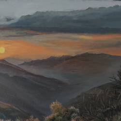first snow, 24 x 18 inch, arun  karara,24x18inch,canvas,paintings,landscape paintings,nature paintings | scenery paintings,paintings for dining room,paintings for living room,paintings for bedroom,paintings for hotel,paintings for dining room,paintings for living room,paintings for bedroom,paintings for hotel,oil color,GAL02694038505