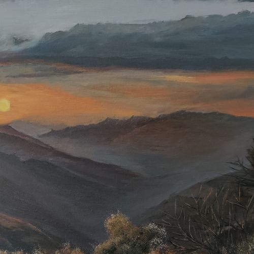 first snow, 24 x 18 inch, arun  karara,24x18inch,canvas,paintings,landscape paintings,nature paintings   scenery paintings,paintings for dining room,paintings for living room,paintings for bedroom,paintings for hotel,paintings for dining room,paintings for living room,paintings for bedroom,paintings for hotel,oil color,GAL02694038505