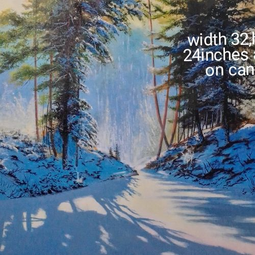 sunny winter day, 32 x 24 inch, md moin ,32x24inch,canvas,paintings,landscape paintings,paintings for living room,paintings for bedroom,paintings for office,paintings for hotel,acrylic color,GAL01096038508