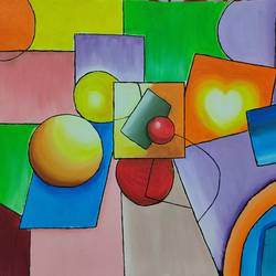 colorful abstract, 20 x 16 inch, swati nanda,20x16inch,canvas,paintings,abstract paintings,paintings for dining room,paintings for living room,paintings for office,paintings for hotel,oil color,GAL02560938510