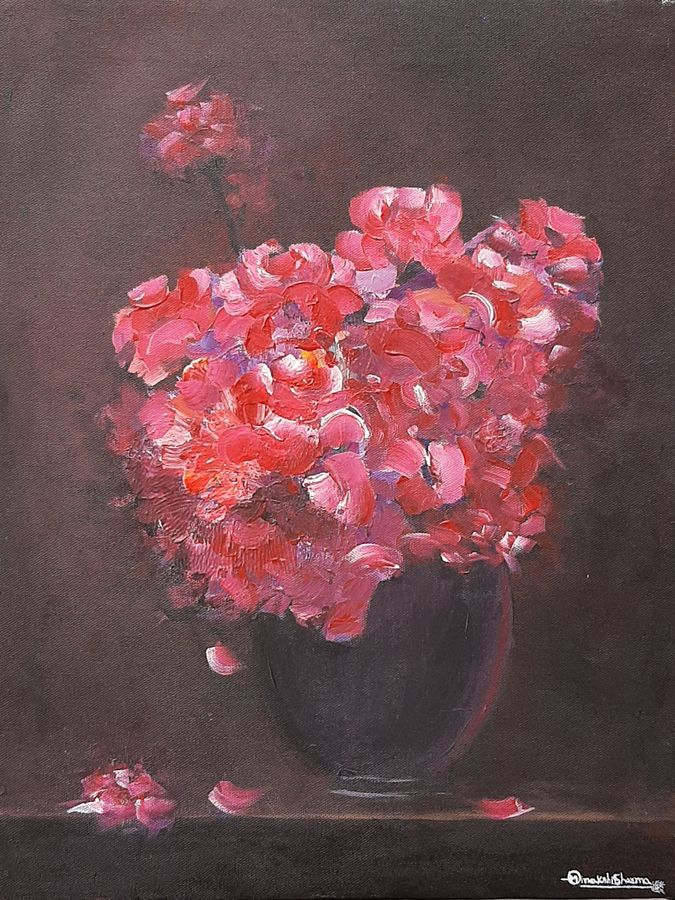 flowers , 14 x 18 inch, minakshi  sharma,14x18inch,canvas,paintings,flower paintings,paintings for living room,paintings for bedroom,paintings for office,paintings for hotel,paintings for hospital,acrylic color,GAL02694938523