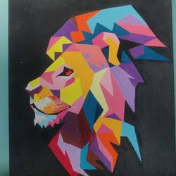 lion, 10 x 12 inch, ritika nagarkar,10x12inch,canvas board,abstract paintings,paintings for living room,paintings for kids room,paintings for living room,paintings for kids room,acrylic color,GAL02701438527