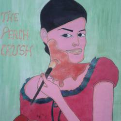 the peach crush, 11 x 17 inch, neha saini,11x17inch,drawing paper,drawings,photorealism drawings,paintings for office,paintings for kids room,acrylic color,GAL02682538586