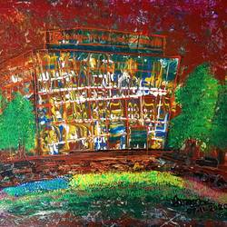 the motel, 24 x 18 inch, musolini rajagopal,24x18inch,canvas,abstract paintings,paintings for living room,paintings for office,paintings for hotel,paintings for living room,paintings for office,paintings for hotel,acrylic color,GAL01311938608