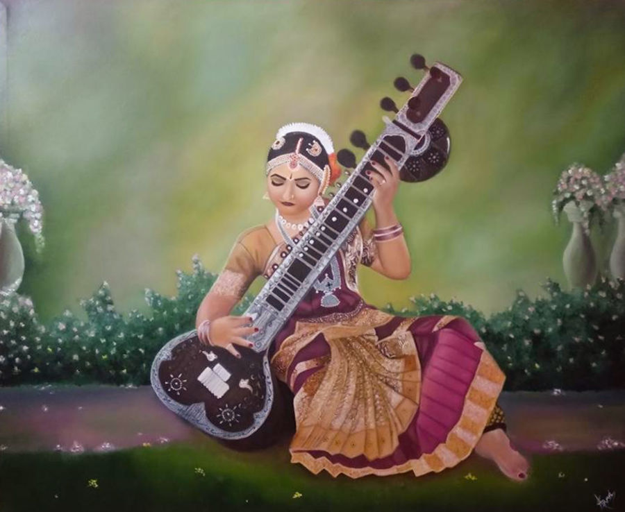 musically devine, 72 x 54 inch, shruti  trivedi ,72x54inch,canvas,paintings,figurative paintings,paintings for dining room,paintings for living room,paintings for bedroom,paintings for office,paintings for bathroom,paintings for kids room,paintings for hotel,paintings for kitchen,paintings for school,paintings for hospital,paintings for dining room,paintings for living room,paintings for bedroom,paintings for office,paintings for bathroom,paintings for kids room,paintings for hotel,paintings for kitchen,paintings for school,paintings for hospital,oil color,GAL02708738609