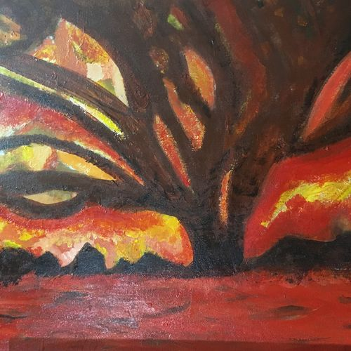 tree of fire, 30 x 20 inch, jyoti sharma,30x20inch,canvas,paintings,wildlife paintings,figurative paintings,landscape paintings,modern art paintings,nature paintings | scenery paintings,paintings for dining room,paintings for living room,paintings for bedroom,paintings for office,paintings for bathroom,paintings for kids room,paintings for hotel,paintings for kitchen,paintings for school,paintings for hospital,acrylic color,GAL02638238613