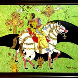rani- the warrior, 48 x 36 inch, ved prakash,48x36inch,canvas,paintings,figurative paintings,paintings for dining room,paintings for living room,oil color,GAL01692238619