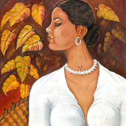 tribal girl, 22 x 27 inch, ved prakash,22x27inch,paper,paintings,figurative paintings,paintings for dining room,paintings for living room,paintings for bedroom,oil color,GAL01692238622