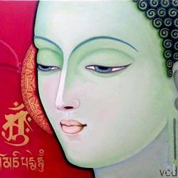 buddha- the lord, 30 x 24 inch, ved prakash,30x24inch,canvas,paintings,buddha paintings,paintings for dining room,paintings for living room,paintings for hospital,oil color,GAL01692238625