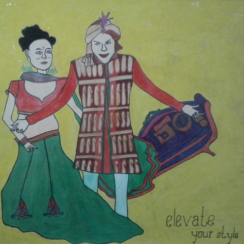 elevate your style, 11 x 17 inch, neha saini,11x17inch,drawing paper,drawings,paintings for bedroom,paintings for office,paintings for hotel,photorealism drawings,paintings for bedroom,paintings for office,paintings for hotel,acrylic color,pen color,GAL02682538636
